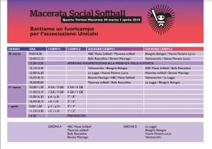 MACERATA SOCIAL SOFTBALL programma